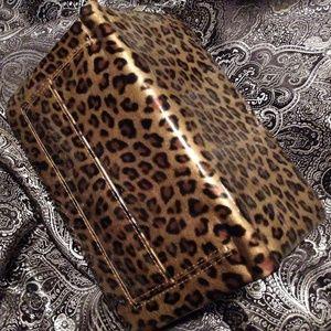 Handbags - Leopard clutch - never used!